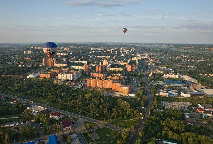 Фото серпухова с воздушного шара
